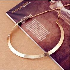 Fazer simples forma textura do metal colar ( versão limitada do ouro ) colar X002