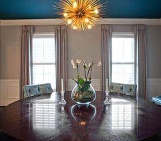 House of Turquoise: Barbour Spangle Design, Winston-Salem, NC. Drapery by Custom Window Treatments, Inc., Charlotte, NC