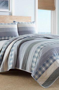 Eddie Bauer Fairview Reversible Quilt Set, Grey | Bedrooms, Blue ... : chatham quilt by nautica - Adamdwight.com