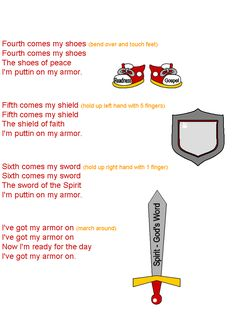 puttin' on my armor of God song  page 2