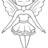 Desenho de Fada bailarina para colorir