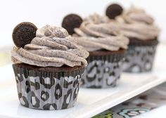 Death by Oreo Cupcakes. Probably the best Oreo Cupcakes we have ever tasted. Super-full of flavor & so fun!! #cupcakerecipes