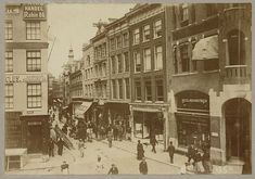 Amsterdam's now busiest shoppingstreet the Kalverstraat, here in 1898