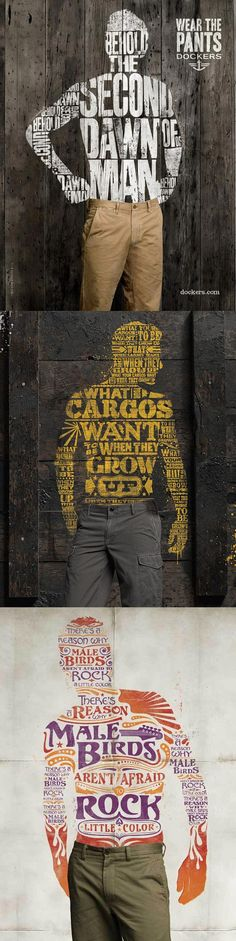 Selling pants visually is tricky—all the more reason this campaign is awesome! Dockers posters