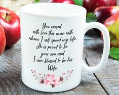 Personalized Mug For Mom In Law Personalized mother's day gift ideas for your mom in law. This above mug is customizable! A perfect way to let her know . Mom In Law, Mother In Law, Wedding Thank You Gifts, In Law Gifts, Personalized Mugs, Creative Gifts, Gift Ideas, Thankful, Blog