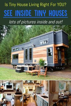 Is Tiny House Living Right For YOU? / See Inside Tiny Houses / lots of pictures inside and out! Tiny Spaces, Small Rooms, Inside Tiny Houses, Off Grid Cabin, Interior Photo, Tiny House Living, House Floor Plans, Building A House, Minimalist Lifestyle