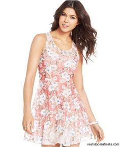 Vestidos cortos floreados para fiesta de día primavera 2015 - https://vestidoparafiesta.com/vestidos-cortos-floreados-para-fiesta-de-dia-primavera-2015/