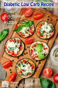Diabetic Low Carb Recipe: Eggplant Pizza