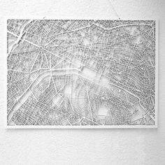 Westpaket 3D-Karte von berühmten Städten Paris | design3000.de