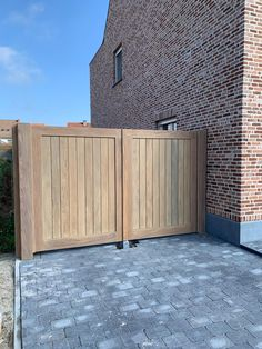 Cotswold House, Wooden Garage Doors, Wooden Garden Gate, Gate Design, Wooden Gates Driveway, Backyard Landscaping Designs, Wood Fence