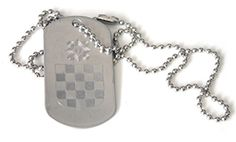 Dogtag NDH Wappen, Grb NDH, silver used look designed by franicon http://www.amazon.de/dp/B00WX6WJDA/ref=cm_sw_r_pi_dp_1OKqvb0XH7K08