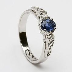 sapphire celtic ring