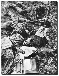 Signalers from SS Totenkopf Division