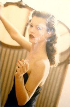 Arthur Elgort, Kate Moss at the Hotel Raphael, Paris, Vogue Italia, 1993