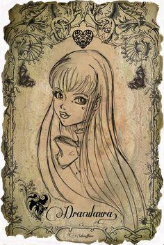 Draculaura Portrait by MoySchiaffino on DeviantArt Monster High Art, Monster High Dolls, Zombie Walk, Fan Picture, Vintage Dolls, Cute Drawings, Cyberpunk, Sketching, Scary