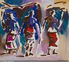 SEKOTO Gerard, 1913-1993 (South Africa) - Dancing in Senegal   Date : 1969