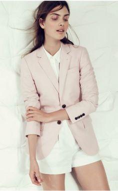 Pink Blazer & White