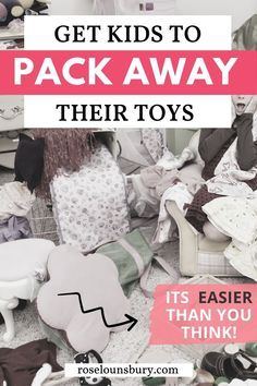 Want an easy way to declutter your kids bedroom and convince your kids to pack away their toys and clean up their room? Yes, it's possible. And starts with mindset. See our best minimalist parenting hacks and minimalist home advice here Minimalist Parenting, Barbie Go, Home Management, Toy Organization, Playroom Decor, Declutter, Cool Toys, Parenting Hacks, Kids Learning