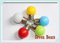 10pcs/lot 0.33w mini led lamp E27 bulb  AC220V led light   white/red/blue/green/yellow free shipping