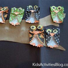 paper plates owls - diy