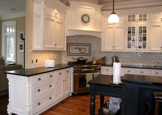 Learn about new kitchen decor tips and hints. Kitchen Vent, Kitchen Hoods, New Kitchen Cabinets, Kitchen Soffit, Navy Kitchen, Kitchen On A Budget, Home Decor Kitchen, Home Kitchens, Kitchen Ideas
