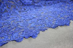 Beautiful Royal Blue Guipure Lace| bridal lace | Free Delivery within UK