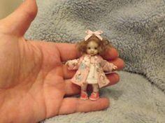 Miniature Handmade Mini Baby Girl Toddler OOAK Dollhouse Art