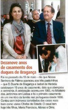 Família Real Portuguesa: DEZANOVE ANOS DE CASAMENTO DOS DUQUES DE BRAGANÇA