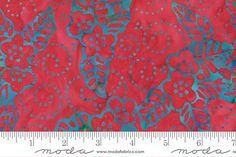 Stoffe gemustert - Moda Wild Waves Batiks, Art: , Motiv: Blumen - ein Designerstück von stil-bluete bei DaWanda