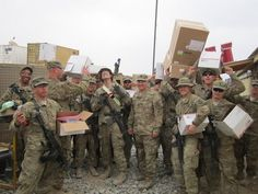 """Soldiers of the 151st EN Co. in Afghanistan received care packages from home thanks to local eagle scout Jamie Tippett's project. Tippett's father is in the NCNG, & with the help of Murphy-Brown LLC who paid the shipping costs, they're helping to make this Valentine's Day a little brighter.    """"With my dad being in the military, I knew how much it meant to them to receive something from home,"""" Tippett said."""