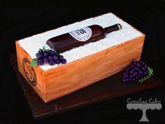 Sugar Wine Bottle Cake