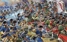 Melee combat between Russian and Swedish troops, Battle of Poltava