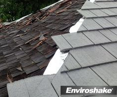 Before & After: Enviroshake® Inc. can really restore the look of your curb appeal & it's maintenance free!!