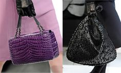Fashion Week Handbags: Bottega Veneta Fall 2012. Purple is beautiful!