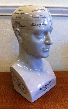 X-Large Porcelain Psychology Scientific Phrenology Head | eBay