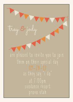 Fun wedding invitations-see them all at lovelyyellowhouse.com