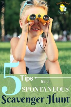 With these five tips, you will have fun creating a spontaneous scavenger hunt for kids no matter where you are! Try them today.  | homeschoolpreschool via @homeschlprek