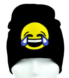 - Cry Laughing Tears of Joy Face Emoji Beanie Knit Cap - High Quality Material - Acrylic / Cotton / Polyester - One size fits most! - Beanie cap to keep you warm and looking cool!