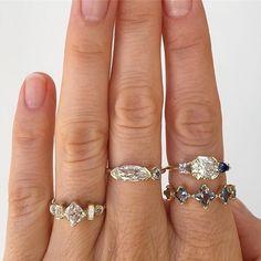 "39 Likes, 6 Comments - Elika In Love (@elika.in.love) on Instagram: ""Stunning rings by designer Mociun based in Williamsburg #mociun #mociunjewelry #mociunoneofakind…"""