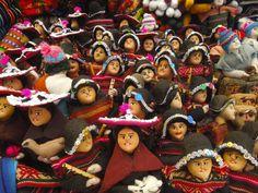 Handmade dolls in traditional costumes, Tarabuco
