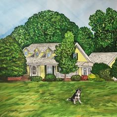 I'm happy to add any pets or animals to your custom house paintings