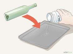"""How to Flatten Glass Bottles. Flattened glass bottles can be an interesting piece of artwork, a thematic drinks tray, or a fancy cutting board. It is not possible to """"slump"""" bottles with normal household appliances, but once you have a. Melted Wine Bottles, Wine Bottle Corks, Bottles And Jars, Wine Bottle Candles, Recycled Glass Bottles, Glass Bottle Crafts, Diy Bottle, Flatten Bottles, Bottle Cutting"""