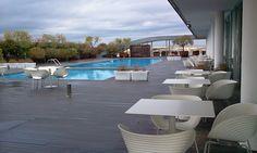 Rooftop pool and bar, Radisson Blu, Rome