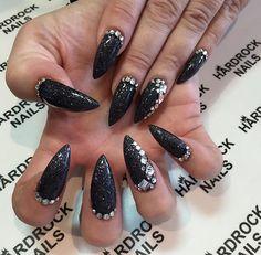 Black glitter and jewel