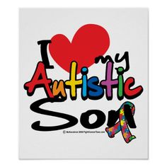my son has autism logos | Love My Maine Coon (Male Cat) Poster