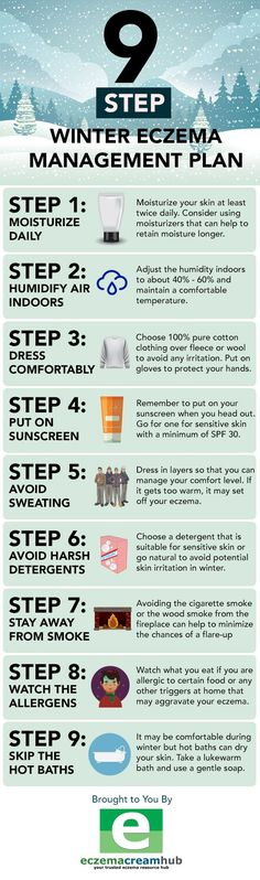 How To Deal With Winter Eczema - Infographic