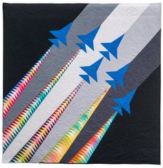 Quilting Projects, Quilting Designs, Quilting Ideas, Quilt Block Patterns, Quilt Blocks, Airplane Quilt, Flying Geese Quilt, Quilt Of Valor, Patriotic Quilts