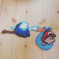 Baby Mario perler beads by imakeperlersoidontkillpeople