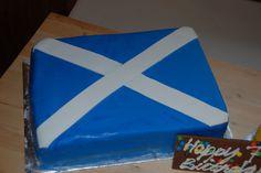 Scotland Flag Cake