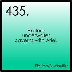 Explore underwater caverns with Ariel